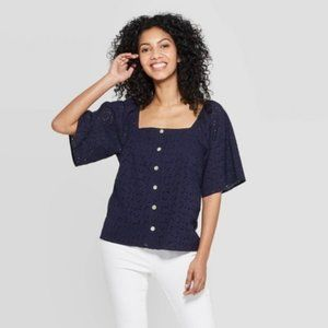 A new day | eyelet top